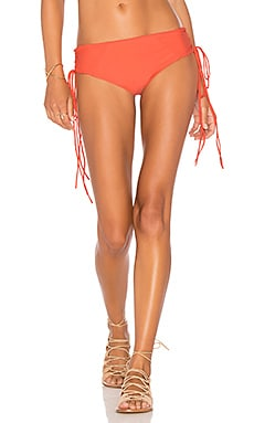 Shade Lace Up Bikini Bottom in Pomegranate