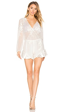 Leonie Wrap Playsuit en Blanc