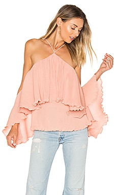 Princess Frill Top in Zartrosa
