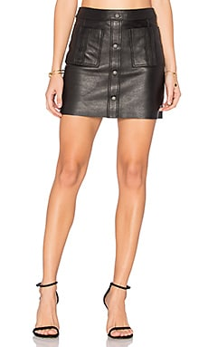Shrimpton Leather Mini Skirt in Black