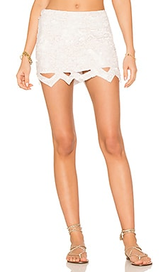 X REVOLVE Catara Mini Skirt in Ivory