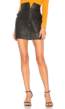 Beaux Leather Mini Skirt