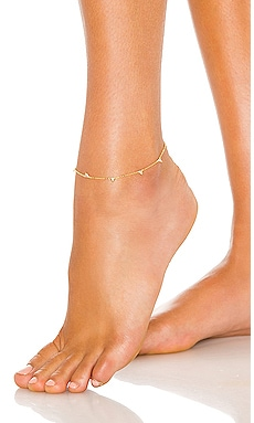 CZ Triangle Anklet Adina's Jewels $58