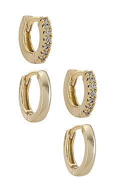 Mini Huggie Earring Combo Set Adina's Jewels $78