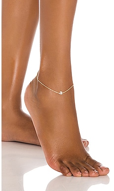 Tiny Lowercase Pave Initial Anklet Adina's Jewels $68 BEST SELLER