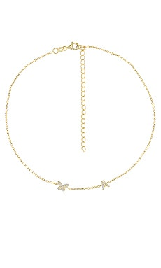 Pave Butterfly Initial Choker Adina's Jewels $78 BEST SELLER