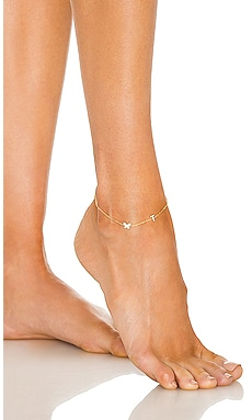 Pave Butterfly Initial Anklet Adina's Jewels $68