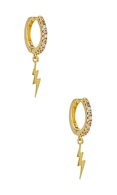 Lightning Bolt Huggie Earring Adina's Jewels $48 BEST SELLER