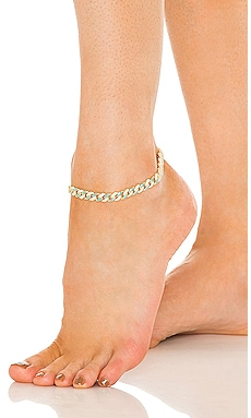 Pave Neon Enamel Chain Link Anklet Adina's Jewels $150