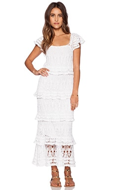 Anna Kosturova Cotillion Dress in White