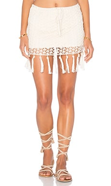 Fringe Shell Skirt in Cream