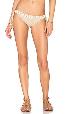 Anna Kosturova Seashore Lace Up Bikini Bottom in Taupe