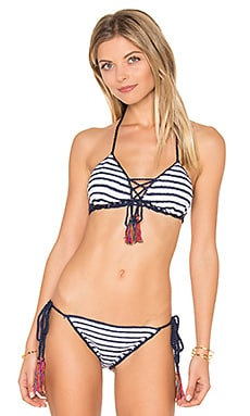Sailor Aztec Lace Up Top