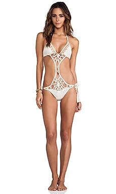 Anna Kosturova Flashback Monokini in Cream