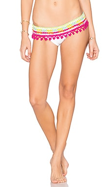 Astral Nomad Skirtkini Bottom in White & Sorbet
