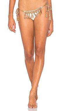 Marsala Tassel Bikini Bottom