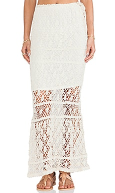 Bianca Maxi Skirt in Cream