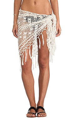 Tassel Scarf Sarong in Cream
