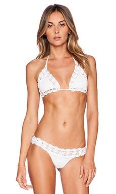 Anna Kosturova Bella Bikini Top in White