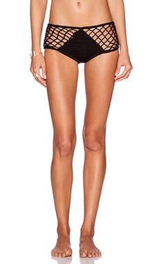 Anna Kosturova Mesh Bikini Bottom in Black