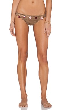 Anna Kosturova Gypsy Bikini Bottom in Toffee