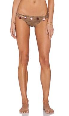 Anna Kosturova Gypsy Bikini Bottom in Toffee