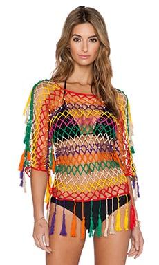 Anna Kosturova Mesh Top in Aztec Stripe
