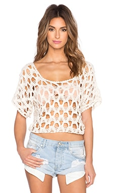 Anna Kosturova Diamond T-Top in Cream