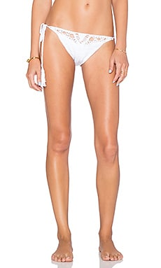 Anna Kosturova Flashback Side Tie Bikini Bottom in White