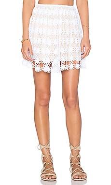 Anna Kosturova Bella Mink Skirt in White