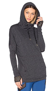 Shadow Dolman Hoodie in Charcoal