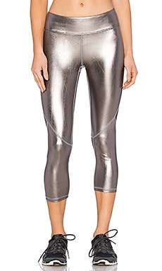 Crop Tight Legging en Shiny Pewter