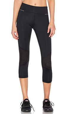 ALALA Blocked Crop Tight in Black & Pindot