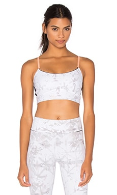 ALALA The Cut Cami Bra in White Shadow