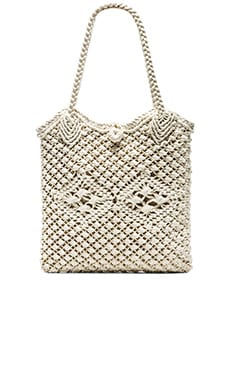 ale by alessandra Vela Crochet Bag in White