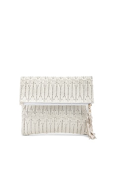 ale by alessandra La Pluma Clutch in White