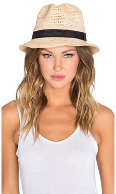 ale by alessandra Recife Hat in Natural & Black