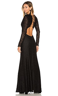 x REVOLVE Neves Dress in Black Night