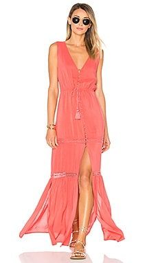 Juliana Maxi Dress in Coral Crush