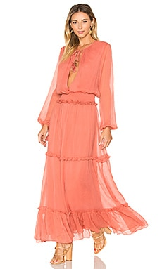 x REVOLVE Sabina Maxi Dress en Sweet Dahlia