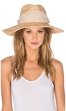 ale by alessandra La Goa Hat in Natural & Off White