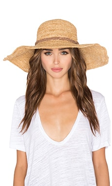 ale by alessandra Dunas Hat in Gold Shimmer & Brown