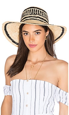 ale by alessandra Makuna Hat in Natural & Black