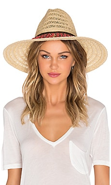 ale by alessandra Garapoba Hat in Natural & Coral