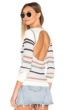 Andressa Sweater in White & Striped