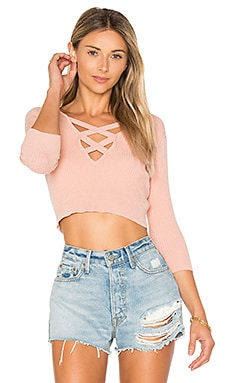 x REVOLVE Leona Cropped Sweater