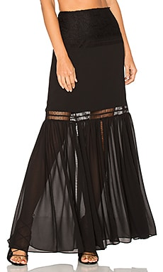 x REVOLVE Virginia Skirt en Negro noche