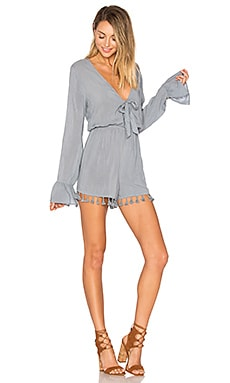Livia Romper in Stone Blue