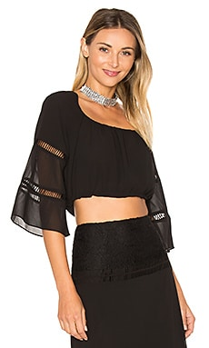 x REVOLVE Virginia Top en Negro noche