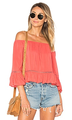 Fernanda Top in Coral Crush